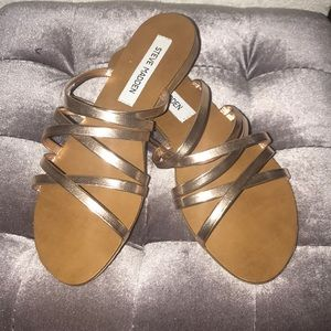 Rose Gold Strappy Sandals